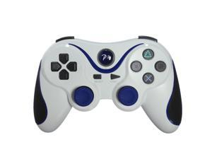 Six Axis DualShock 3 Game Pad Joypad Wireless Bluetooth Game Controller for Sony PS3 PlayStaion 3 White Blue