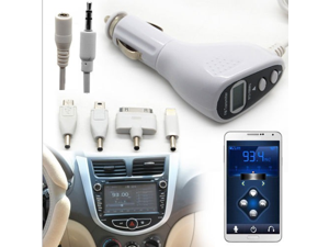 3.5mm Car Kit Wireless LCD FM Transmitter Charger for iPhone 4S 5C 5S sumsung Note 2 3 iPod HTC LG Sony Ericsson Blackberry Nokia smart phone MP3 MP4 tablet PC Notebook