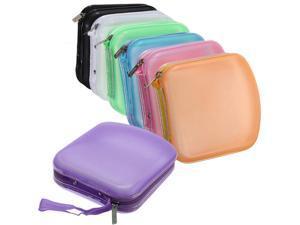 Portable 40 Disc CD DVD VCD Storage Holder Sleeve Case Hard Box Wallet Carry Bag