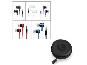 Universal 3.5mm Jack In Ear In-Ear Earphone Headphone Headset Earbud + Storage Bag Pouch for iPod iPhone 3 4 5  Mp3 Mp4 HTC Tablet PC