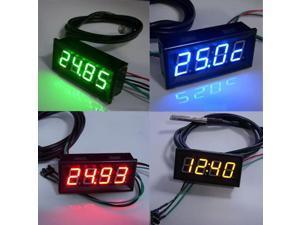 """HOT! 0.56"""" 0-200V LED Digital Gauge DC Car Volt Meter Temperature/Voltage/Time 3in1/red"""