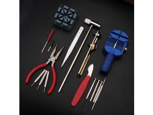 Deluxe Watch Band Pins Link Remover Case Opener Ball Watch Holder Adjusting Repair Set Kit Tools 16pcs In Pack