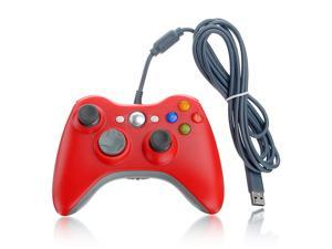 USB Dual Shock Controller Gamepad Joystick Jaypad for Microsoft Xbox 360 PC Red
