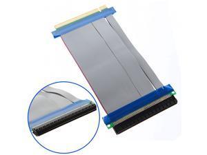 2xPCI-Express PCI-E 16X Riser Card Flex Flexible Ribbon Extender Extension Cable pc laptop