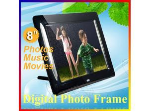 """8"""" Multi-functional Digital Photo Frame & MP3 with Remote Control Black"""