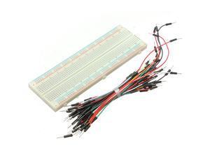 MB102 830 Tie Points Solderless PCB Breadboard 65pcs Solderless Flexible Breadboard plug Jumper Wires Bread board