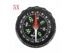 5pcs 40mm Pocket Liquid Filled Compass For Outdoor Hiking Camping Survival Navigation
