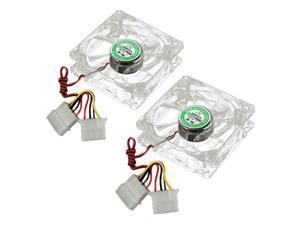 2pcs 80mm 8cm 4 Pins LED Colorful Cooling Cooler CPU Case Fan For Computer PC