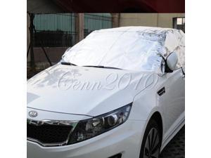 Prevent Heat Cool Sun Rain Snow Car Cover Half Aluminum Silver Shade Visor Hood