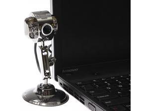 USB Metal HD Cam Webcam 6 LED Night Vision with Mic Microphone for Laptop PC Mac