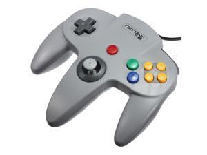 Retrolink Wired Classic Nintendo 64 N64 USB Controller Game Gaming Gamepad Joypad Joystick for PC MAC Computer Gray