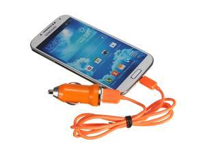 Micro USB Data Sync Cable Lead & Car Charger Adapter For Samsung Galaxy S  SII  SIII  SIV  Note  Note II ACE  Y