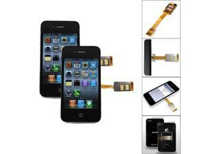 Dual Sim Cards Double Adapter for iPhone 4 4S Samsung Galaxy S5 S4 S3 Note 2 3