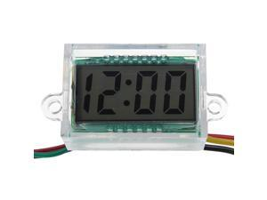 Motorcycle Vehicle Electronic Watch LCD Display with Blue Backlight