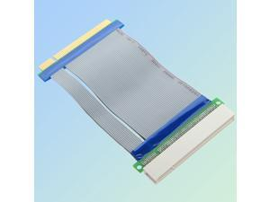 2 pcs PCI-Express PCI-E 16X Riser Card Flex Flexible Ribbon Extender Extension Cable
