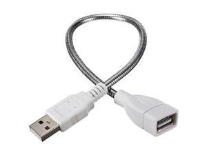 35cm USB power Metal usb hose light lamp extension Cable cord A Female to Male Mobile Power Llaptop USB Charger Installation Of Small Lights