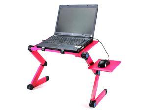 Five Star Inc Folding Adjustable Vented Laptop PC iPad Book Desk Table Stand Portable Bed Tray New