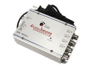 4 Port CATV Cable TV Signal Amplifier AMP Antenna Booster Splitter Set Broadband