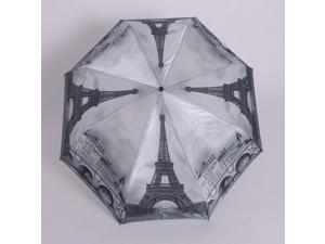 Eiffel Tower Umbrella Folding Anti-uv Automatic Umbrella