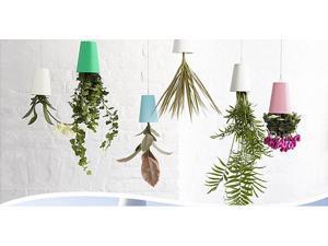 Home Garden Decor Sky Planter Hanging Flower Pot Upside Down Plant Pot Basket