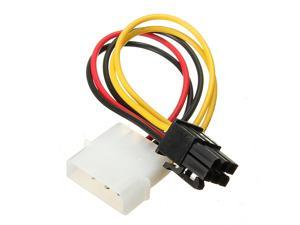 1x  4 Pin Molex to 6 Pin PCI-E Power Adapter Converter Graphics Card Cable