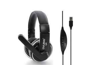 Adjustable OV-Q6 HIFI USB2.0 Jack Stereo Headset Headphone with Mic Microphone for PC Computer Laptop