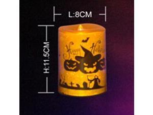 Halloween Pumpkins Candle Light LED Flicker Candles Battery Operated Witch Pumpkin Cat