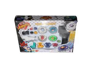Metal Fusion Top Rapidity Fight Master Rare Beyblade 4D Launcher Grip Set