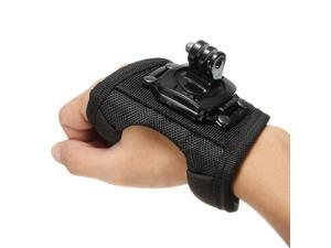 Glove style Wrist Band Mount Strap Accessories for GoPro HD Sport Camera Hero 1 2 3 3+ With 360°Rotary Connector