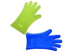 1PC Heat Resistant Silicone Glove Oven Pot Holder Baking BBQ Mitt Silicone Kitchen Tool