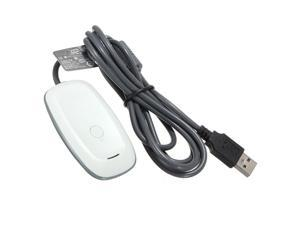 PC Wireless Controller Gaming USB Receiver Adapter For Microsoft XBOX 360 White