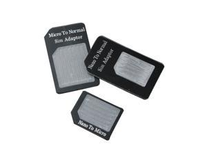 3 in1 Nano/Micro to Micro/Standard SIM Card Adapter Tray For iPhone 5S 5 5C 4S 4 3G