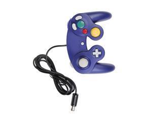 Dual Shock Game Controller Joypad Gamepad For Nintendo Wii GC NGC GameCube Blue