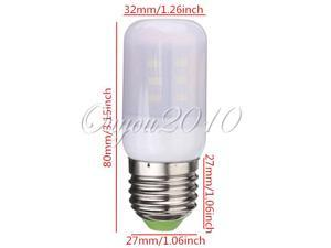 E27 3.5W 5730 24SMD Ivory Cover Corn Light Lamp Bulb Pure/Warm White AC 220 380LM