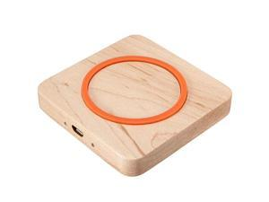 Square Wood Qi Wireless Charger Charging Pad + Ultra-thin Qi Wireless Charger Charging Receiver Card