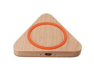 Triangle Wood Qi Wireless Charger Charging Pad + Ultra-thin Qi Wireless Charger Charging Receiver Card