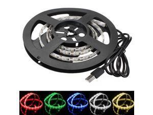 100cm/1M 60LEDs 3528 SMD Epoxy Waterproof LED Strip Light TV Background Light With 5V USB Cable For Computer/Desktop/laptop/ Car Cigar lighter
