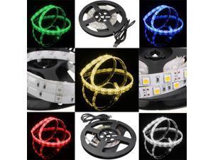 200cm/2M 60LEDs 5050 SMD Epoxy Waterproof LED Strip Light TV Background Light With 5V USB Cable For Computer/Desktop/laptop/ Car Cigar lighter