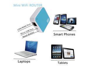 150Mbps 802.11b/g/n PortableWireless-N Nano Router AP Repeater - Blue