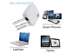 150Mbps 802.11b/g/n PortableWireless-N Nano Router AP Repeater - White