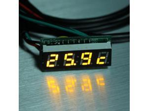 "0.28"" Nixie Tube Electronic Timer Singlechip Electronic Meter LED Time Clock /Temperature/Voltage 3 in 1 Digital Display Meter 200V Digital DC Volt meter Yellow"