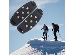 1 pair Snow Ice Climbing Shoe Spikes Grips Cleats shoes Cover Crampons 7-Stud Anti Slip