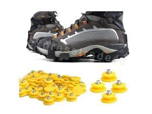 10-Stud Cover Ice Snow Climbing Anti Slip Shoe Spikes Crampon Grips Cleats New