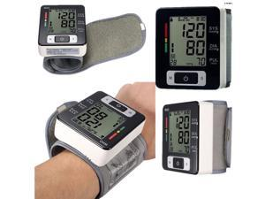 Automatic Digital LCD Wrist Blood Pressure Pulse Upper Monitor Heart Beat Meter