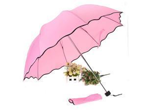 Anti-UV Lady Women men Girl Flouncing Princess Dome Parasol Sun Rain Foldable Umbrella