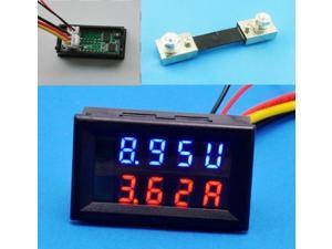 New Digital LED Voltmeter Ammeter Amp Volt Meter + Current Shunt DC 200V 100A
