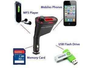 USB 2.0 Multifunctional Car Kit Wireless Bluetooth 3.0  Hands-free FM Transmitter Modulator SD MP3 WMA Player
