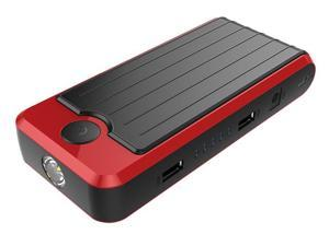 PowerAll PBJS12000RD Portable 12000 mAh Dual 5V USB Power Bank and Car Jump Starter with Carrying Case - Red/Black