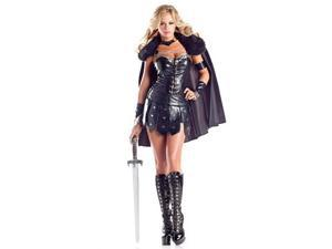 Ravenous Warrior Costume BW1395 Be Wicked Black Medium/Large