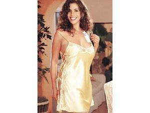 Buttercup Charmeuse And Dyed Lace Chemise X20015 Shirley Buttercup 2X